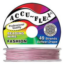 "30 Foot Spool Accu-Flex 49 Strand Blush PINK 0.024"" Diameter Beading Wire"