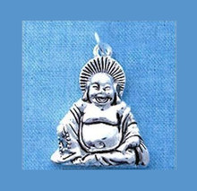 1 Large OR 2 Small Silver Plated Happy Sitting BUDDHA Charms