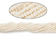 1 Hank Opaque Pearl White #11 Glass Seed Beads ~ Approx 4000 Beads