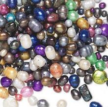 1/2lb Cultured Fresh Water Pearl Bead Mix 3-20mm Mixed Shapes & Colors  400-800*