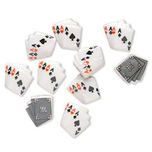 10 Porcelain White & Black Playing Card Beads  ~ 15 x14mm ~  Aces  *