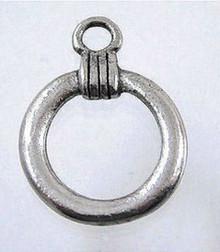 1 Antiqued Pewter Loop Connectors ~ Eyeglass Holder or Badge Holder