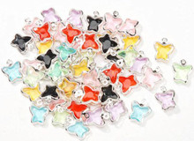 50 Small Acrylic Double Sided Butterfly Charm Mix ~  9x12mm