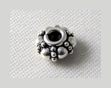 48 Antiqued Silver Rondelle Spacer Beads ~ 2.5x6mm  *