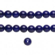 "Two 16"" Strands Dark Blue Fossil Gemstone Beads ~ 6mm"