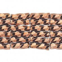 50 grams Matsuno Twist 6mm Opaque Bronze Spiral Glass Bugle Beads