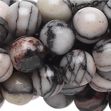 1 Strand Black Silk Stone Natural 4mm Round Gemstone Beads