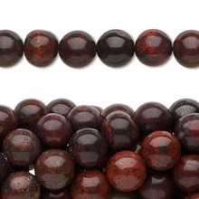 1Strand Brecciated Jasper  Natural Round Beads  4mm, 6mm or 8mm