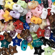 50 Grams Acrylic 8x8mm Star Beads   ~ You Choose Colors *