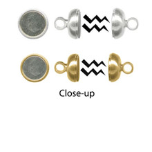 1 OR 12 Silver Plated or Gold Plated Magnetic Clasps ~ 260 Gauss ~ Strong