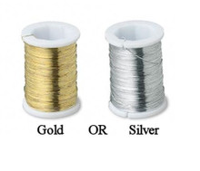 2 Spools Gold OR Silver Wire ~ Bead Wrapping  ~ 34 gauge ~ 48 yard