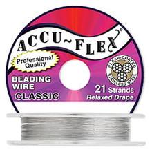 "30 Foot Spool Accu-Flex 21 Strand Clear 0.014"" Diameter Beading Wire"