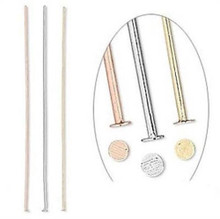 """144 Gold Silver Copper Plated Head Pins ~ 2"""" Long Mix ~ 24 Gauge"""