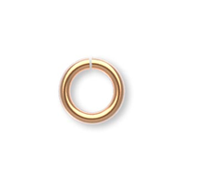 100 Gold Plated Brass 4.5mm Round 20 Gauge Jump Rings