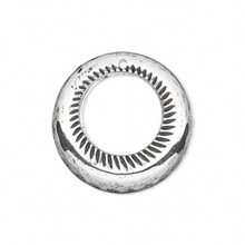 50 Grams Antiqued Silver Metalized Plastic 25mm GO GO Charms