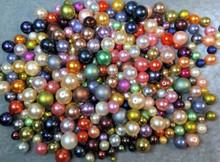 1 Pound Fine Czech Pressed Glass Pearl Round Bead Mix ~ 3-16mm