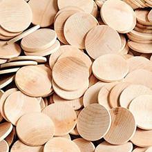 "100 Wooden 1-1/2"" x1/8"" Hardwood Straight Edge Circles"