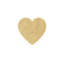 """100 Miniature Wooden Hardwood Hearts 1 1/2""""x1 1/2""""x1/8"""" thick Woodlets"""