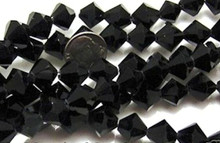 33 Jet Black Acrylic Cosmic Crystal 12x12mm Bicone Beads *