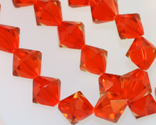 33 Hyacinth Orange Acrylic Cosmic Crystal 12x12mm Bicone Beads *