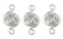 6 Silver Metal Swirl Wire  Link Connectors ~ 12x24mm  *