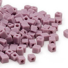 25 Grams Miyuki Opaque Frost Violet 3.5-3.7mm Square Glass Seed Beads (SB410F)