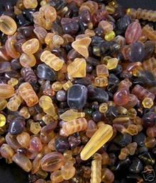 200 Grams Matte Amber Topaz 4-18mm Czech Glass Beads Designer's Mix *