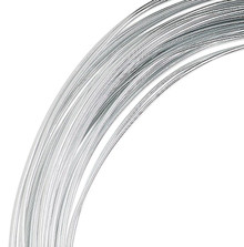 45 Foot Coil Silver Aluminum 16 Gauge 1.25mm Round Wire for Wrapping