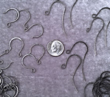 36 Pair Gunmetal Plated Earwire Mix ~  Flat Fishhook & French Hook  *