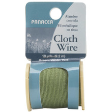 10 yard Spool Panacea Green Cloth Covered Wrapping Wire