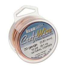 10 yard Spool Tarnish Resistant Copper Wrapping Wire ~ 20 gauge