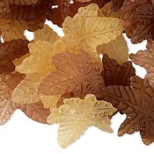 120 Acrylic Leaf Charm Mix ~ Brown, Burnt Orange & Light Brown ~ 20x20mm