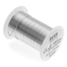 15 yard Spool BeadSmith Tarnish Resistant Silver 1/2 Hard Wrapping Wire ~ 20 Gauge