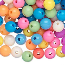 504 Acrylic Round 8mm Beads ~ Opaque Summer Color Mix