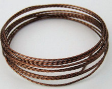 15 Feet Non Tarnish Vintage Bronze Twisted Square Wrapping Wire ~ 21 Gauge