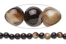 1 Strand Black Agate (Dyed) 4mm Round Gemstone Spacer Beads