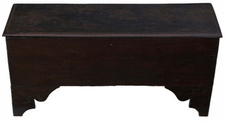 Georgian oak mule chest coffer blanket box coffee table