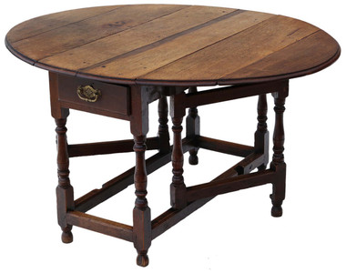 Georgian oak drop leaf gateleg dining table
