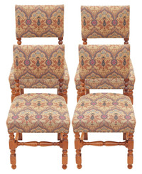 Set of 4 mahogany Cromwellian dining chairs oak cherry