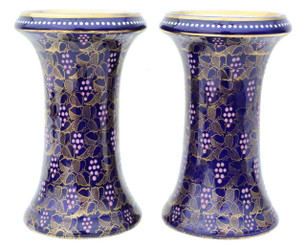 Pair of vases marked Royal Vienna fruiting vines