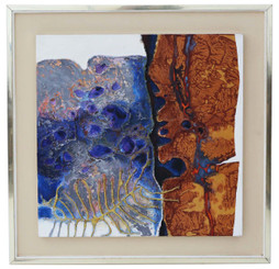 Framed acrylic relief on board original painting