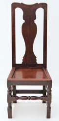18th Century high back oak hall chair