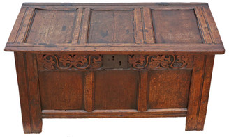 18th Century Georgian oak coffer or mule chest