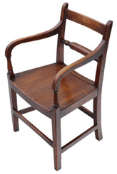 Georgian elm elbow desk chair