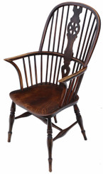 Victorian ash & elm Windsor dining chair