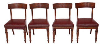 Regency mahogany set of 4 dining chairs