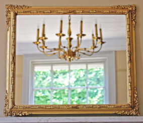 Victorian wall mirror overmantle gilt framed