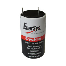 0810-0004 Enersys Cyclon Battery - 2V 2.5AH D Cell - Hawker Gates