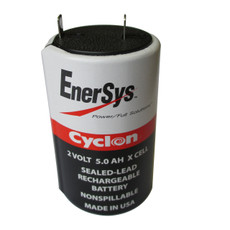 0800-0004 Enersys Cyclon Battery - 2 Volt 5.0AH X Cell - Hawker Gates