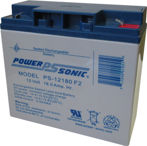 Power Sonic Ps 12180 F2 Battery 12 Volt 18 0 Amp Hour